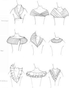 Neckline variations, portrait necklines  1/14