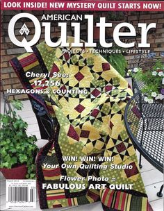 American Quilter magazine Hexagons and counting Art quilt Vintage inspirations
