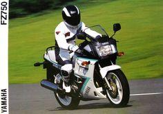 Yamaha FZ750 ad.