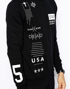 Image 3 of ASOS Sweatshirt With Symbols Print
