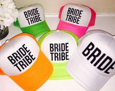 1 Bride/4 Squad Bachelorette hats | Etsy