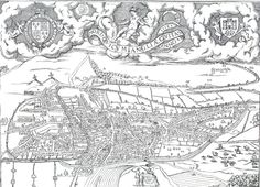 Map of Norwich - 1558 William Cunningham William Cunningham, Norwich Norfolk, My Ancestors, City Maps, Old City, Tapestry, Kids, Art, Hanging Tapestry