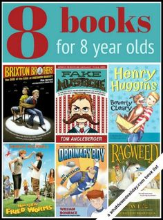 Books for 8 year olds, who are in that nebulous reading place between early chapter books and middle grade fiction. Middle grade books are generally aimed at kids ages 8 to 13 but that doesnt mean every book is age appropriate. Heres a GREAT list! Book Suggestions, Book Recommendations, Books For Boys, Childrens Books, Toddler Books, Good Books, Books To Read, 8 Year Old Boy, Kids Reading