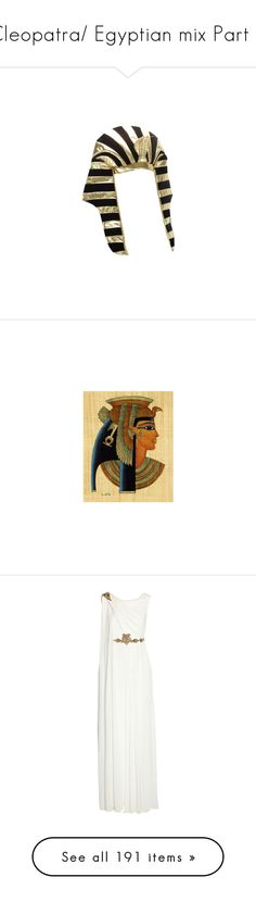 """""""Cleopatra/ Egyptian mix Part 4"""" by leanne-mcclean ❤ liked on Polyvore featuring accessories, egypt, egipt, egypto, hats, египет, backgrounds, dresses, gowns and long dresses"""