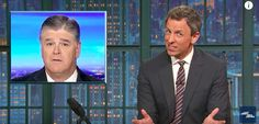 trumphookers  hannity  Seth Meyers Calls Out Sean Hannity For The Most Bizarre Habit | HuffPost