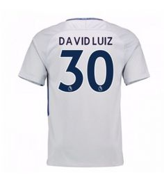 Billiga Chelsea David Luiz 30 Bortatröja 17-18 Kortärmad Stamford, Chelsea Fc, Premier League, Sports, Tops, Fashion, Moda, La Mode, Sport