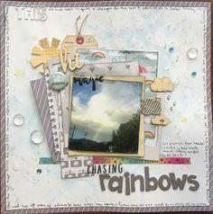 Chasing Rainbows - Pink Paislee - Hello Sunshine Collection