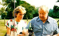 Diana and her father, John Spencer, 8th Earl Spencer.