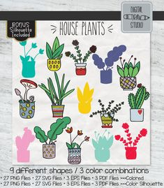 Home decoration is one of the most important elements that help you to define the… Indoor Cactus, Cactus Plants, Indoor Plants, Pot Plants, Cactus Art, Plant Illustration, House Illustration, Big Leaves, Flower Pots