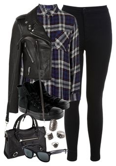 """Style #9764"" by vany-alvarado ❤ liked on Polyvore featuring Miss Selfridge, Topshop, Yves Saint Laurent, Converse, Balenciaga, Ray-Ban, Forever 21, women's clothing, women and female"