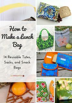 How to Make a Lunch Bag: 14 Reusable Totes, Sacks, and Snack Bags | Get prepped for back to school with these DIY lunch bags!
