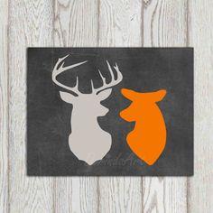 deer head print