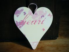 Decoupage Heart Wall Hanging  Heart and by DriftwoodandDebris, £5.50