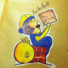 Sobre navideño cartera / xmas envelope postwoman