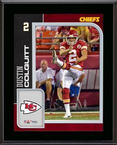 Dustin Colquitt Kansas City Chiefs 10.5   x 13   Sublimated Player Plaque  Jamaal 2ef758585