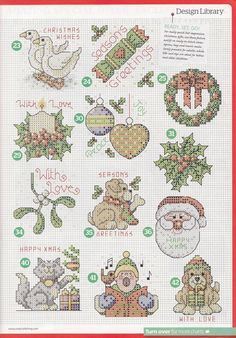natty's cross stitch corner: 50 Small Christmas Motifs