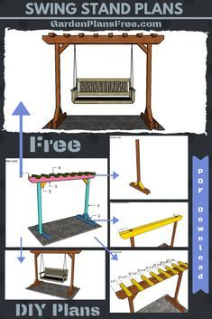If you want to learn more about swing stand you have to take a close look over the free plans in the article. This is a sturdy swing stand designed for your porch or backyard patio. Porch Swing Frame, Porch Swing With Stand, Patio Swing, Patio Decks, Decking, Hammock Swing Stand, Diy Swing, Bench Swing, Outdoor Wooden Swing