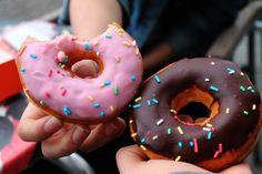 Imagen de donuts, food, and chocolate