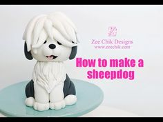 How to make a fondant / polymerclay Sheepdog Dog Cake Topper, Cake Toppers, Creative Cake Decorating, Animal Faces, Polymer Clay Crafts, Cake Tutorial, Dogs And Puppies, Teddy Bear, Make It Yourself