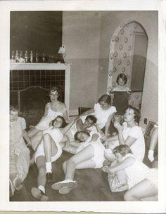 Tease Your Partner Baby Doll Pajamas, Baby Dolls, Pyjamas, Vintage Photographs, Vintage Photos, 1950s Teenagers, Sleepover Games, Pajama Party, Teenage Dream