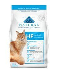 Blue Natural Veterinary Diet HF Hydrolyzed for Food Intolerance Dry Cat Food 7 lb by Blue Buffalo