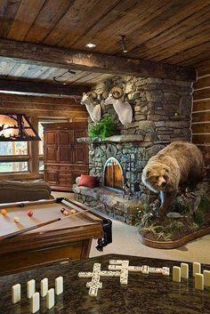 Rustic living/rec room by Mandi