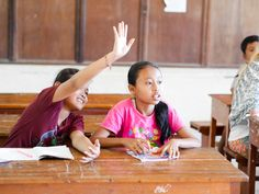 Working together in class. #vpbali #educationforall #foreverychild