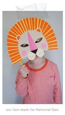 mer mag: DIY Paper Lion Mask for National Geo Kids