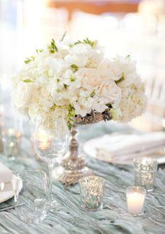 simple white flower arrangement