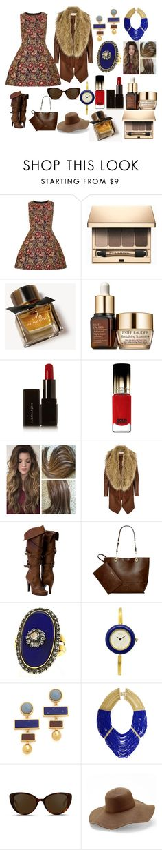 """""""Untitled #234"""" by mselim ❤ liked on Polyvore featuring Dorothy Perkins, Clarins, Burberry, Estée Lauder, Illamasqua, L'Oréal Paris, River Island, Calvin Klein, Lizzie Fortunato and BCBGMAXAZRIA"""