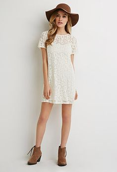 Floral Lace Shift Dress | Forever 21 - 2000052782