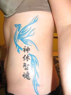 phoenix tattoo - 'i will rise' in symbols....idea!!! In white ink would be nice