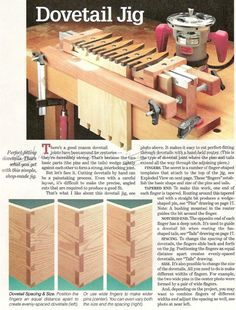 Dovetail Jig Plans - Joinery