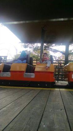 Having fun at Cedar Point