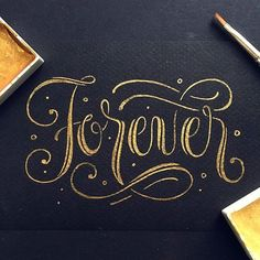 Beautiful lettering by @darkgravity | #typegang - typegang.com