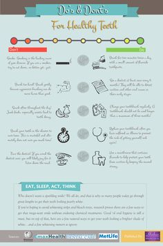 Do's and Dont's For Healthy Teeth