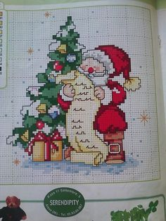 Babbo natale Cross Stitch Christmas Cards, Xmas Cross Stitch, Christmas Cross, Cross Stitch Charts, Cross Stitching, Cross Stitch Embroidery, Cross Stitch Patterns, Christmas Embroidery Patterns, Sewing Art