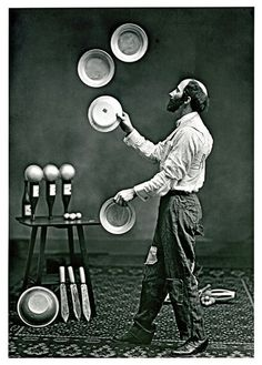 turnofthecentury:  The Juggler, c. 1890 by Drake Brothers.  via Kingston Collection
