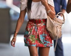 Love the skirt and feminine blouse (actually the whole ensemble)