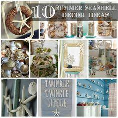 10 DIY:: Summer Seashell Decor Ideas