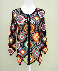 Granny Square Sweater Crochet