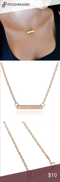 GOLD RECTANGLE CHAIN NECKLACE Beautiful trendy rectangle necklace ! Brand new with tags, never worn - love this piece ! Jewelry Necklaces