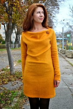 Mustard Fluffy dress, outfit, style, fashion, alinasays