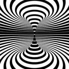 Generative Art Op-art animations: There´s a lot designers can do with just black and white. A collection of op-art inspired animated art, black & white only! Illusion Kunst, Optical Illusion Gif, Illusion Art, Optical Illusions, Brain Illusions, Gif Black, Black And White, Animiertes Gif, Animated Gif