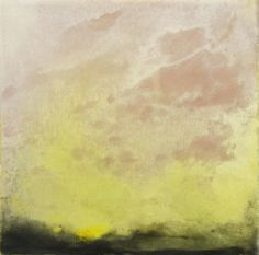 Irradiate II  Monotype with encaustic on panel  www.elizabethmallia.com  #prints #art #abstract #landscape