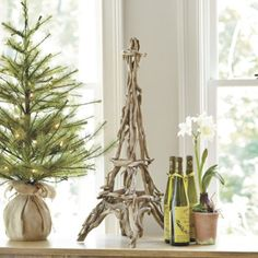 We love driftwood for its warm, weathered color and endless natural shapes. So why not use it to create a sculpture of our favorite Parisian landmark? Every one is hand assembled and a unique work of artisanal art.