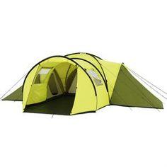 Modèle Zephir. Coloris : vert. Une tente TRIGANO 8 places, avec 3 grandes chambres, une grande avancée tunnel et un grand espace séjour : pour que vos vacances en familles soit un vrai plaisir !