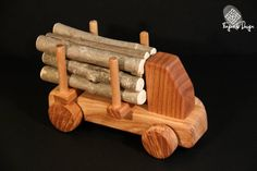 Wooden Logging Truck by FingerTipDesign on Etsy | I really love the adorable irony!