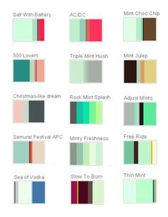 Mint Tacytoo Green Palette Schemes