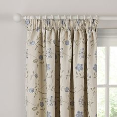 John Lewis Eleanor Lined Pencil Pleat Curtains, Blue Cream Living Rooms, Pleated Curtains, Pencil Pleat, Curtain Patterns, John Lewis, Window Treatments, Bedroom Curtains, Blue, Stuff To Buy